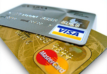 Photo: VISA and Euro creditcards